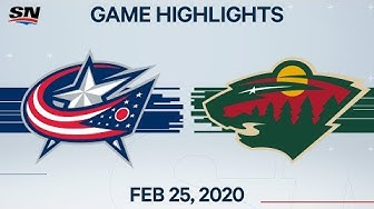 NHL Highlights | Blue Jackets vs. Wild – Feb. 25, 2020