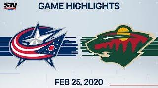 NHL Highlights | Blue Jackets vs. Wild – Feb. 25, 2020