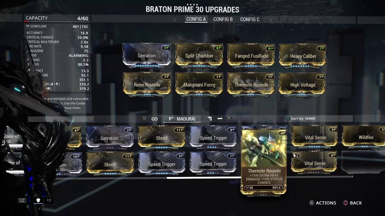 Warframe Braton Prime Build