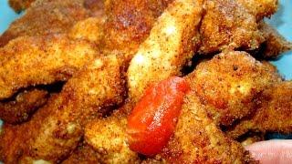 Куриное филе в хрустящей панировке. Мясные палочки