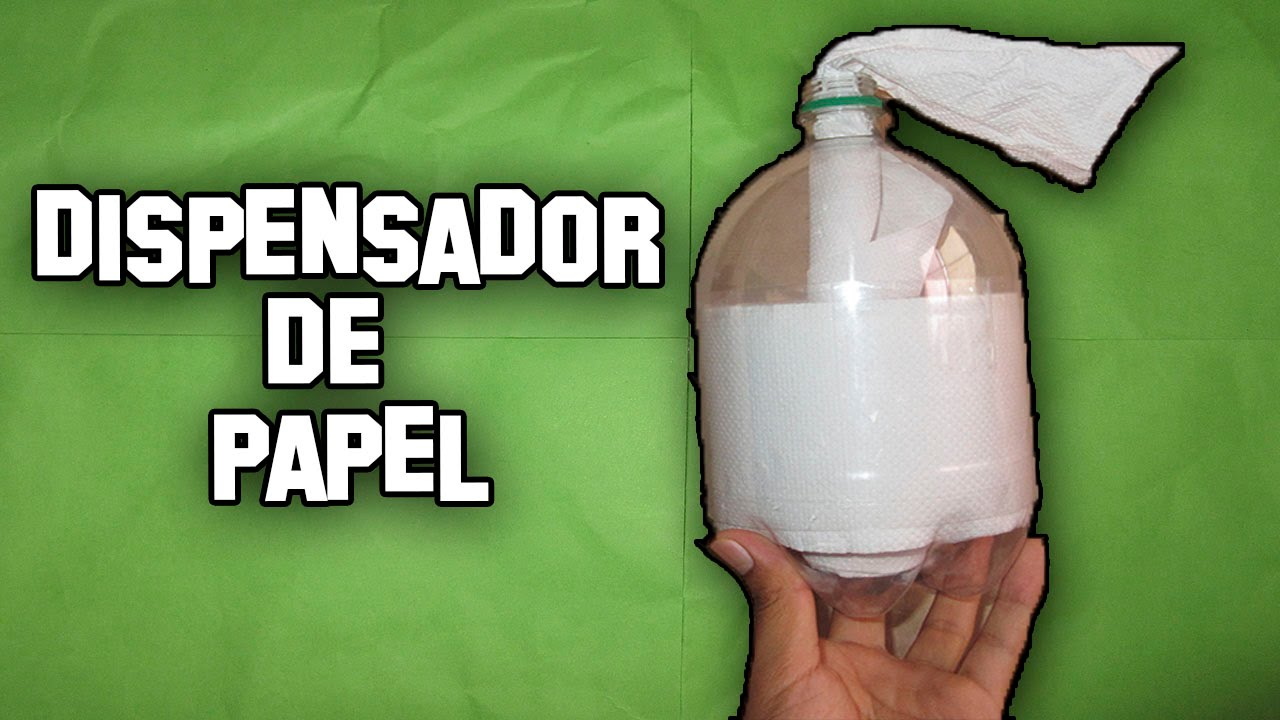 Como hacer un dispensador de papel higienico how to make a for Portarrollos papel higienico de pie