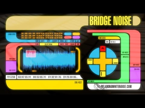 Star Trek The Next Generation Bridge Sounds for Sleep or Studying  White Noise 10 Hours