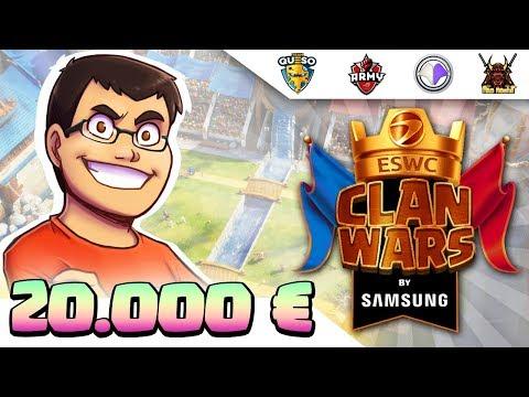 TORNEO POR EQUIPOS DESDE PARÍS | 20.000€ en premios | ESWC Clan Wars by Samsung | Clash Royale