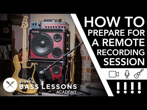 How to Prepare for a Remote Recording Session /// Scott's Bass Lessons