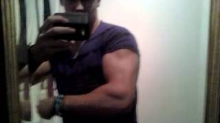 James Zaremba - 19 Year old arm flexing
