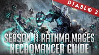 2.6 Rathma Skeletal Mage Necromancer (GR95+ Solo/T13 Speedfarm) - Season 11 Progression Build