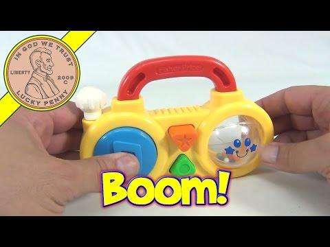 Fisher-Price Vintage Baby Rattle Radio Boombox Toy, 1992