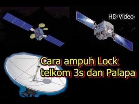 Cara mencari satelit telkom 3s dan palapa