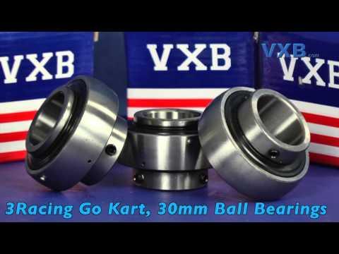 3 Racing Go Kart Bearing 30mm Ball Bearings by VXB Ball Bearings