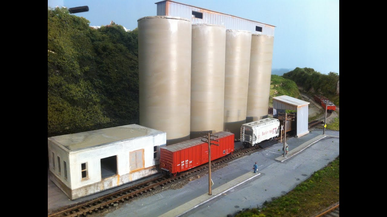 Small Cement Plant : Model railroads trains make your own cement plant
