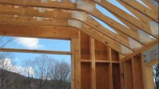 Custom Wood Scissor Truss For Garage