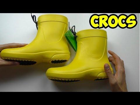 Резиновые сапоги Crocs Freesail Shorty RainBoot. Распаковка, обзор и примерка.