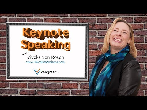 Keynote speaking with Viveka Von Rosen the