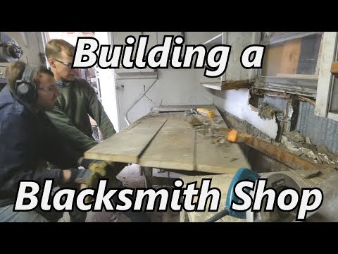 Building an Indoor Blacksmith Shop - Part 1 | Iron Wolf Industrial
