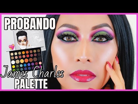 PROBANDO A JAMES CHARLES PALETTE| MAQUILLAJE ARTISTICO paso a paso thumbnail