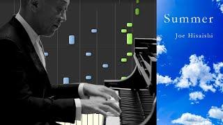 SUMMER(アルバム『ENCORE』バージョン)/久石譲(ピアノソロ中級)【楽譜あり】Joe Hisaishi - SUMMER [PIANO]
