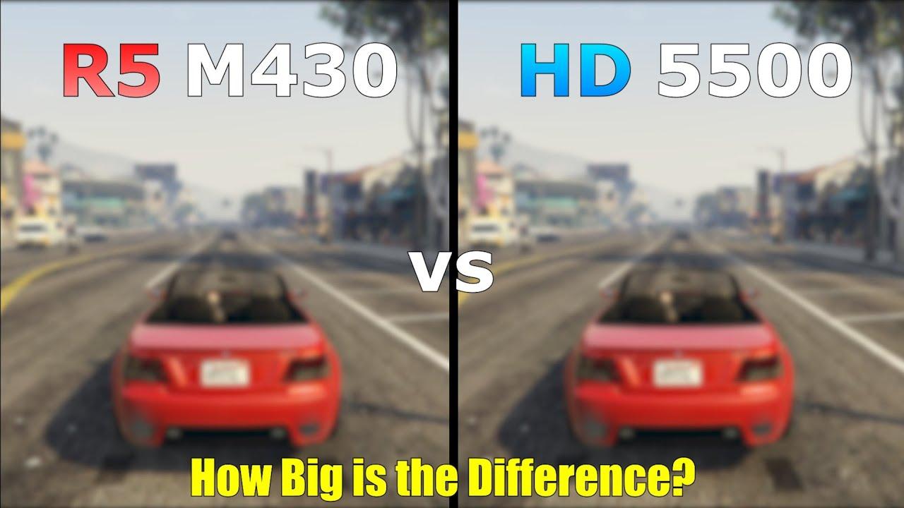 Amd Radeon R5 M430 vs Intel HD Graphics 5500 || Gaming