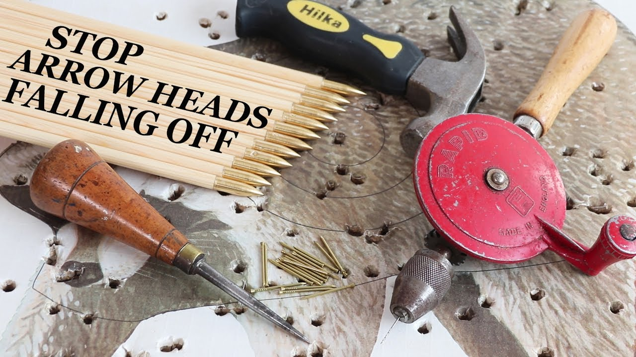 How to stop arrow heads falling off in the target, pin on brass piles points