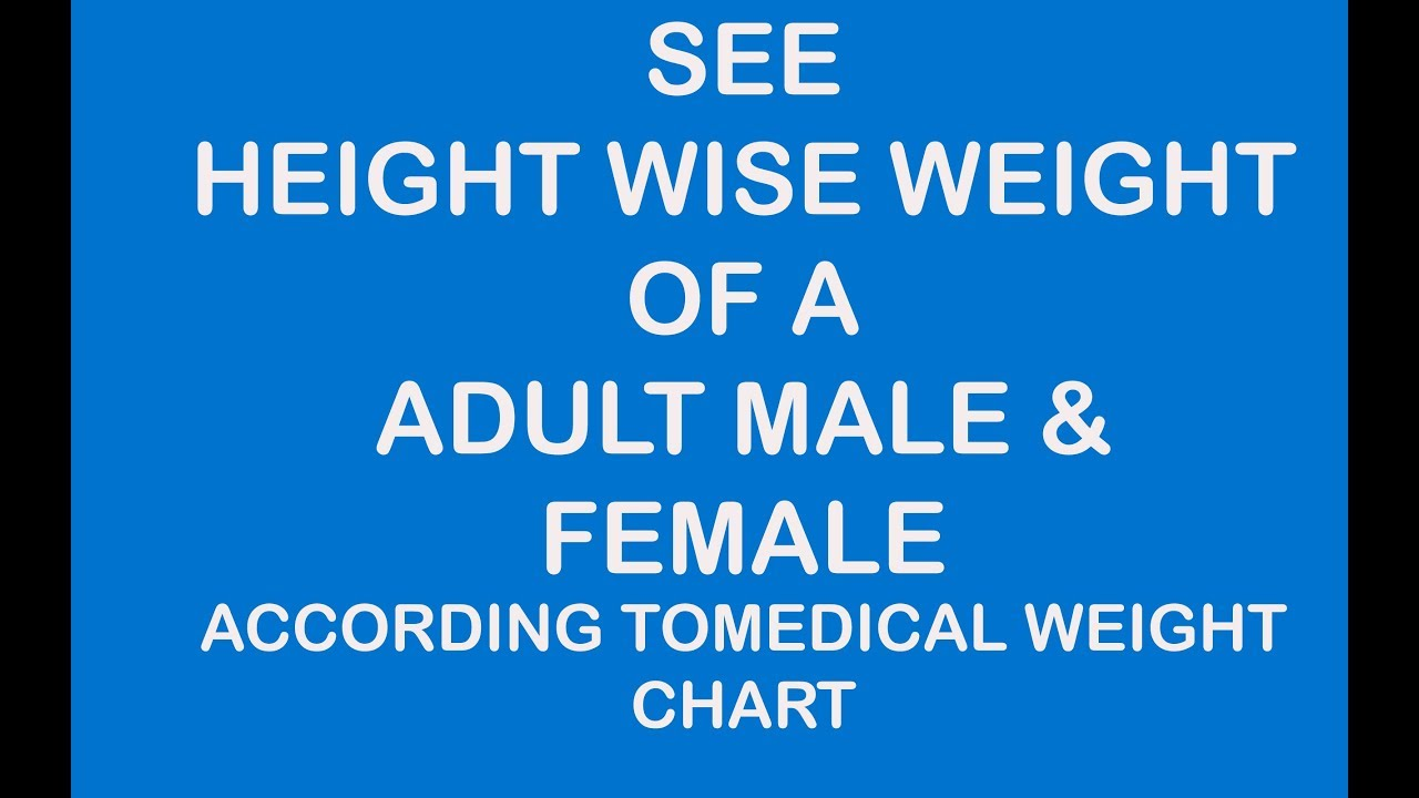 Height wise weight of a adult male and female youtube height wise weight of a adult male and female nvjuhfo Images