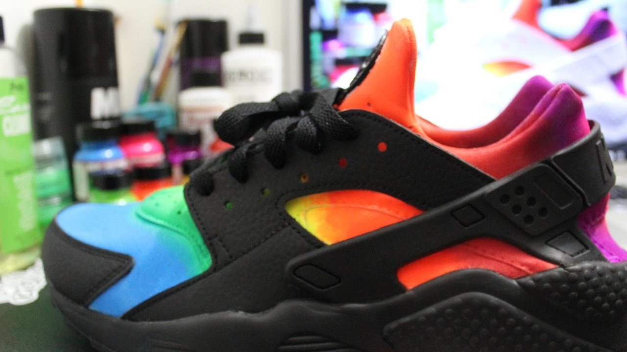 Rainbow Colored Nike Shoes