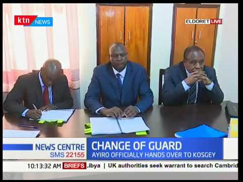 Developing Story:Change of guard at Moi University as Ayiro hands over to Kosgey