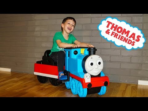 Thomas The Tank Engine Power Wheels ride on train for kids Playground fun Playtime Video for kids