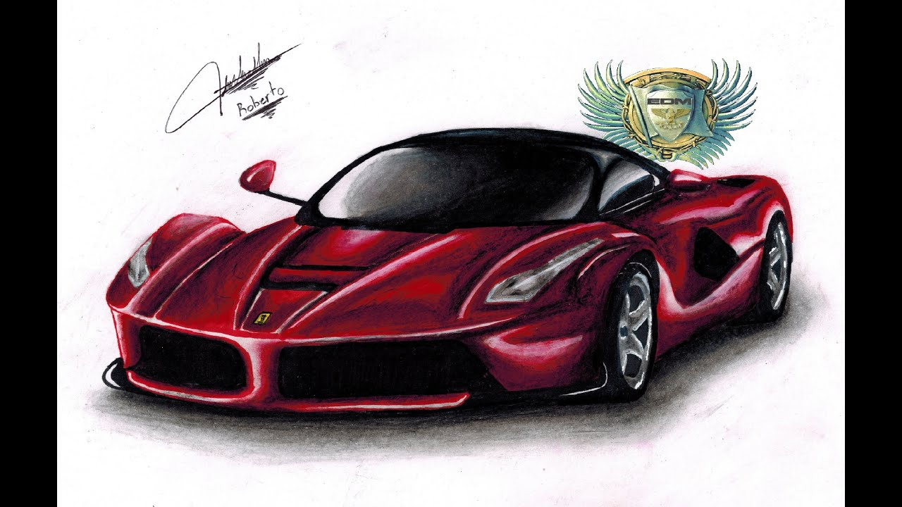 Dibujando un Ferrari (Speed Drawing) - YouTube