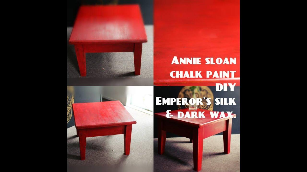 Annie Sloan chalk paint Emperors silk W cleardark wax