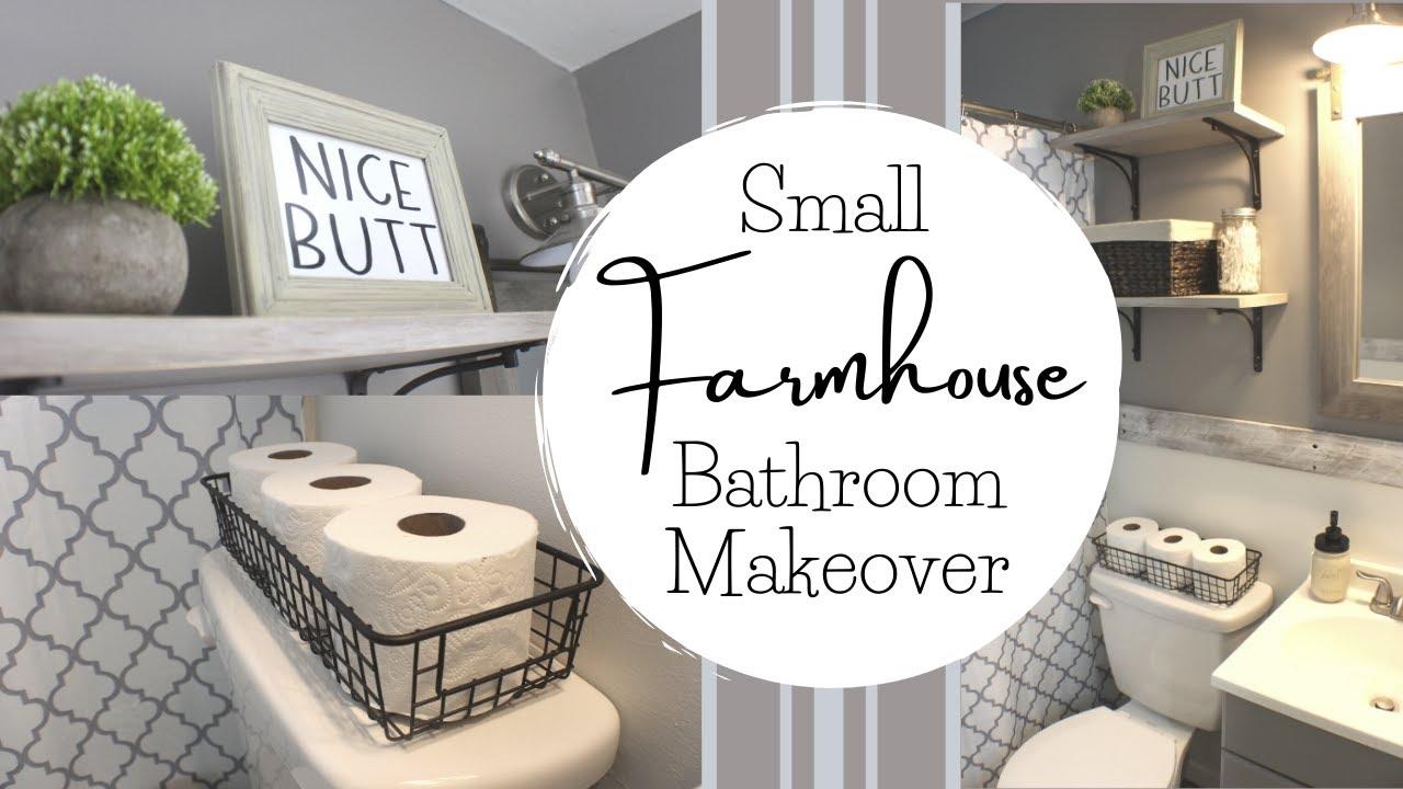 Diy Small Bathroom Remodel Farmhouse, Farmhouse Bathroom Decor Ideas