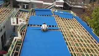 슬라브지붕 스틸 방수 지붕공사 지붕개량