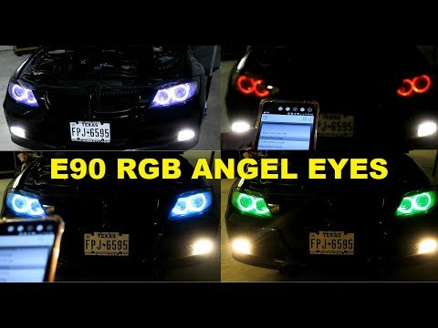 RGB Angel Eyes On My E90 For That LCI Look.