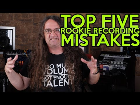Top FIVE Rookie Recording MISTAKES! | SpectreSoundStudios Tutorial