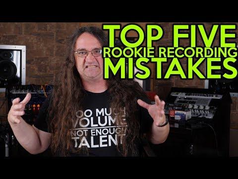 Top FIVE Rookie Recording MISTAKES! | SpectreSoundStudios Tutorial