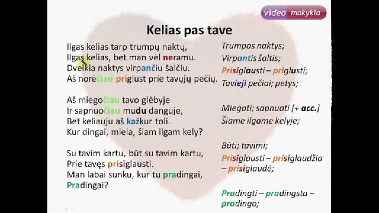 Learn Lithuanian With Lyrics Rebelheart Kelias Pas Tave