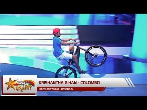 "Youth Got Talent - Episode 04 - ""Krishantha Gihan"" performs an Insane Bike Stunt"
