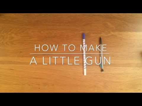 HOW TO MAKE A LITTLE GUN WITH A PEN !