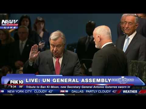 HISTORICAL MOMENT: Antonio Guterres Sworn in as 9th UN Secretary General