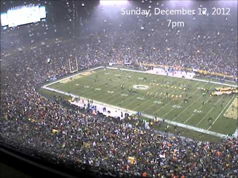 Lambeau Field Time Lapse (December 8 - December 10, 2012)