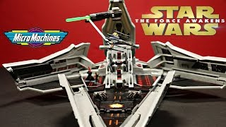 Star Wars Micro Machines Star Destroyer First Order  Force Awakens Unboxing, Review By WD Toys