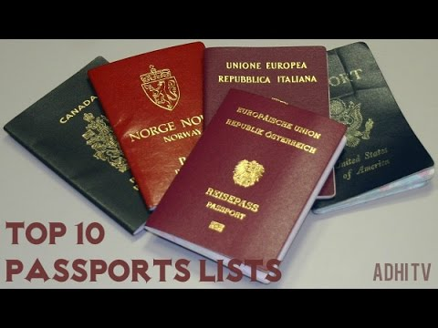 Top 10 Most Powerful Passports In The World | Worlds 10 Most Powerful Passports For Visa Free Travel