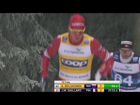 Первый канал покажет мужскую гонку преследования в рамках этапа Кубка мира по лыжным гонкам.