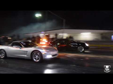 Cold Night Full Of GRUDGE Racing At Yello Belly Drag Strip! Very FAST S10 Hit A WHEELIE TWICE!