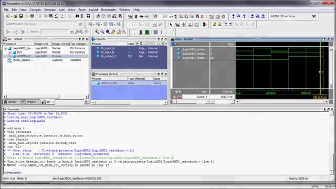 TestBench para Quartus y ModelSim