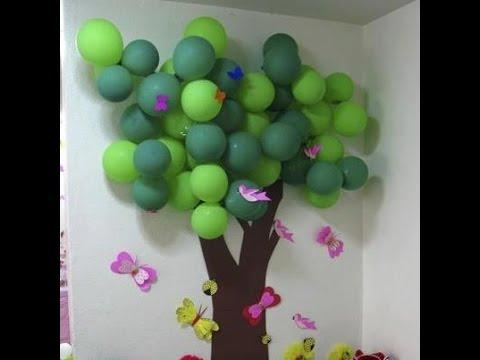 Arboles de globos 50 geniales ideas para tu fiesta for Figuras de decoracion para salon