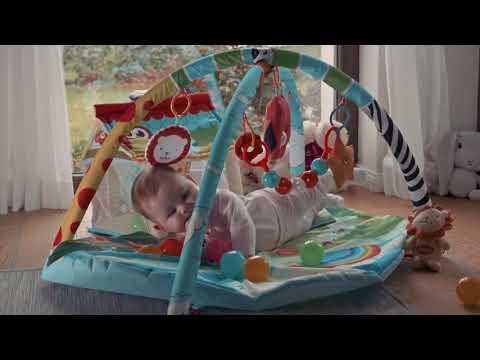 Детский развивающий коврик с мячиками Lionelo Imke