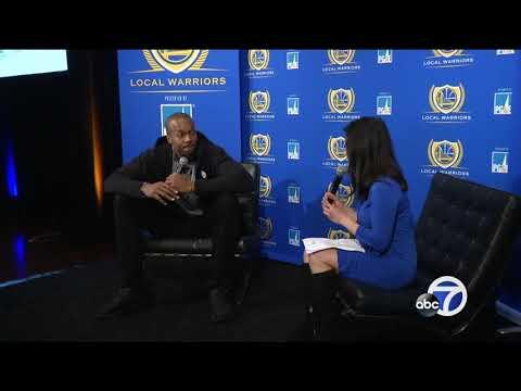 Warrior's David West speaks at career day in San Francisco