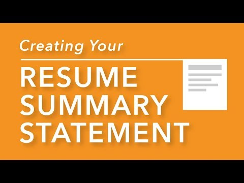 Professional goal statement for resume