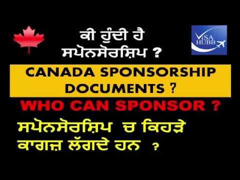 Canada sponsorship documents ?