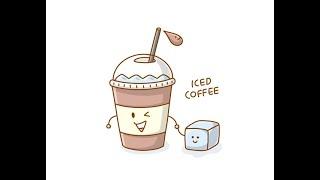 아이스커피 그리기 (귀여운 캐릭터 그리는법)