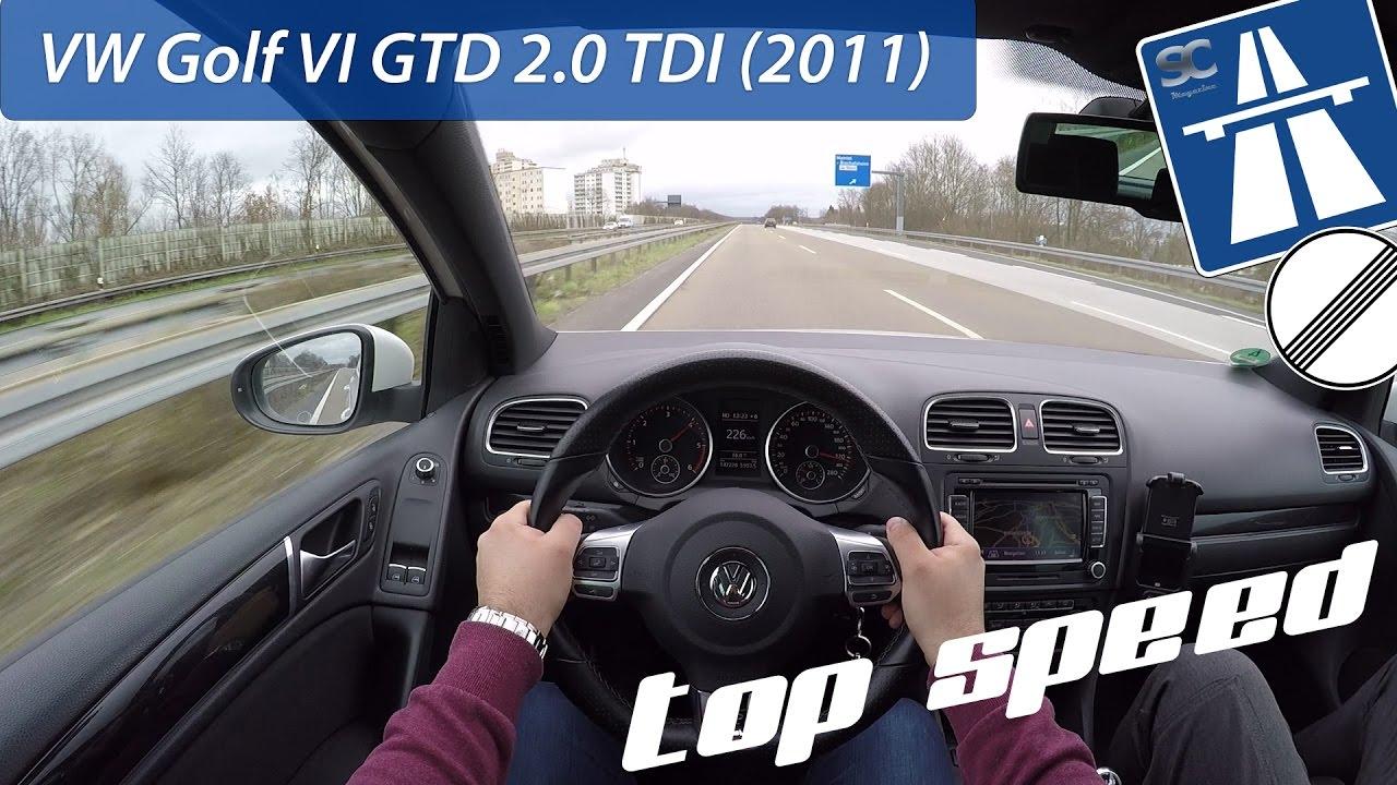VW Golf 6 GTD (2011) on German Autobahn - POV Top Speed Drive
